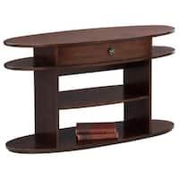 Metropolian Dark Cherry and Birch Sofa/Console Table