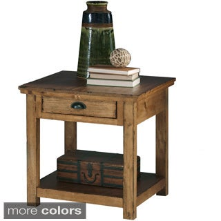 Willow Distressed Rectangular End Table