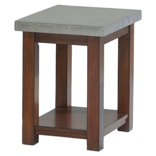 Cascade Nutmeg Birch/ Cement Chairside Table