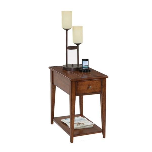 Birch Veneer Chairside Table