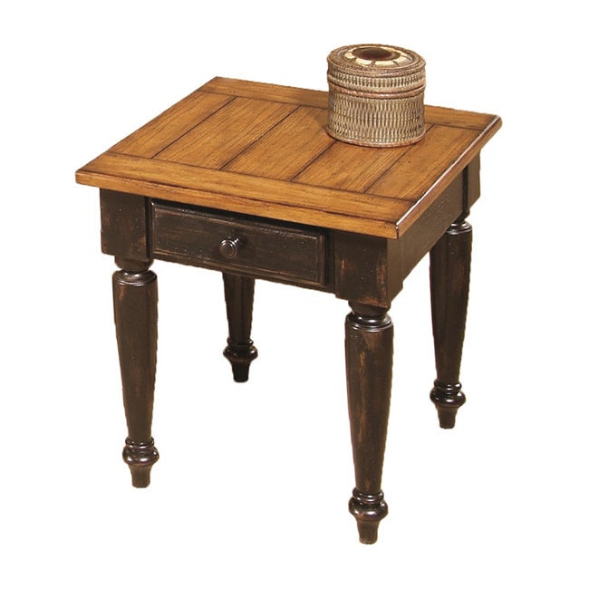 The Gray Barn Alroy Downs Antique Black/ Oak End Table (End Table)