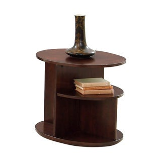 Metropolian Dark Cherry and Birch Oval End Table