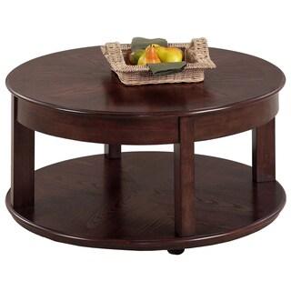 Sebring Medium Ash Castered Round Cocktail Table