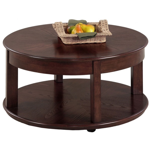 Hooper Storage Coffee Table Natural Ash: Shop Sebring Medium Ash Castered Round Cocktail Table