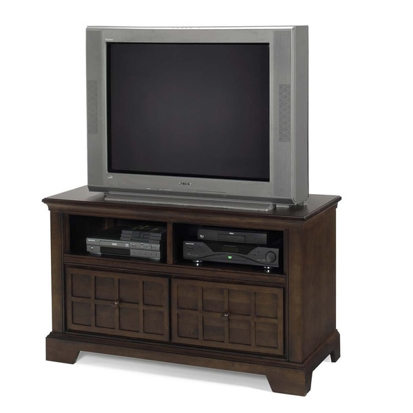 """Casual Traditions Walnut Media Chest - 48"""". Opens flyout."""