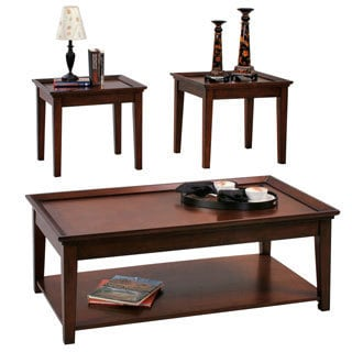Encore Tobacco Cocktail Table and Two End Tables Set