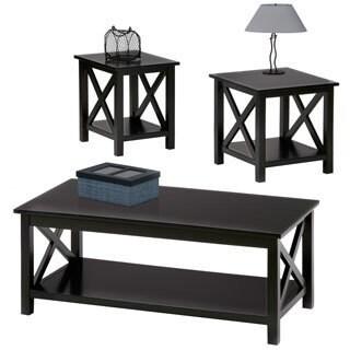 Seascape II 3-piece Textured Black Tables