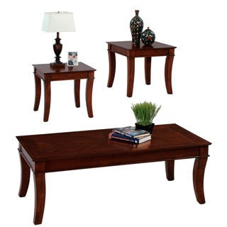 Corona Medium Cherry Coffee and End Table Set