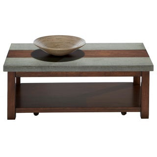 Cascade Nutmeg Birch / Cement Rectangular Cocktail Table