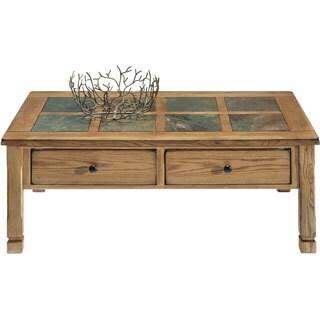 Rustic Ridge Light Oak Veneer/ Elm Rectangular Cocktail Table
