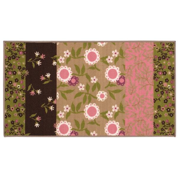 """Floral Youth Brown/ Pink Loop-pile Rug (4'4 x 6'9) - 4'4"""" x 6'9"""""""