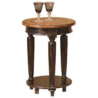Country Vista Antique Black/ Oak Round End Table