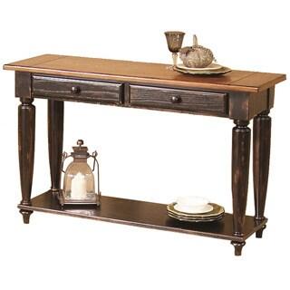 Shop Country Vista Antique Black Oak Sofa Table On Sale Free
