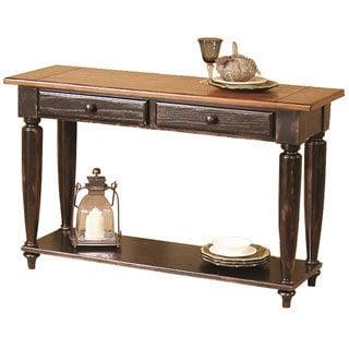 Country Vista Antique Black/ Oak Sofa Table