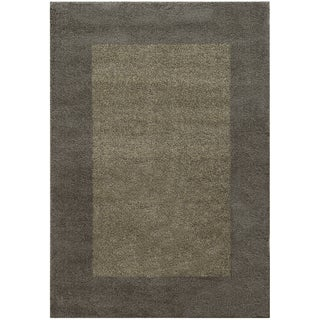 Two-tone Border Shag Grey/ Beige Rug (9'10 x 12'10)