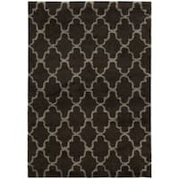 Scalloped Lattice Shag Midnight/ Grey Rug - 7'10 x 10'10