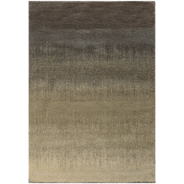 Ombre Shag Grey Beige Rug 5 3 X 7 6 Free Shipping