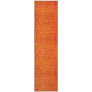 Abstract Impressions Orange/ Yellow Area Rug (2'7 x 10')