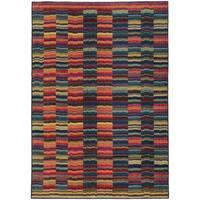 Pantone Universe Expressions Abstract Lines Red/ Blue Rug (9'9 x 12'2) - 9'9 x 12'2