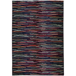 Pantone Universe Expressions Abstract Lines Blue/ Multi Rug (7'10 x 10'10)