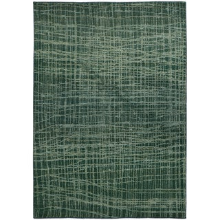 Pantone Universe Expressions Abstract Blue/ Green Rug (5'3 x 7'6)