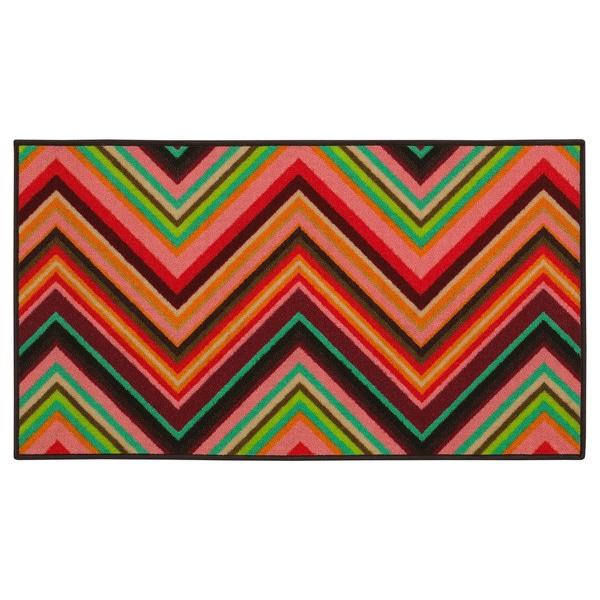 Shop Chevron Youth Loop-pile Pink/ Orange Rug (2'2 X 3'9