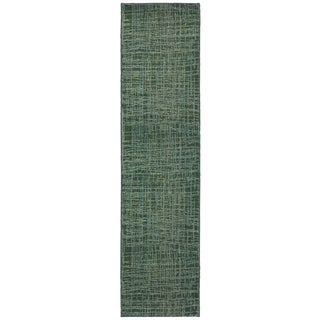 Pantone Universe Expressions Abstract Blue/ Green Rug - 2'7 x 10'