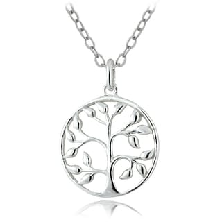 Mondevio Sterling Silver Tree of Life Necklace