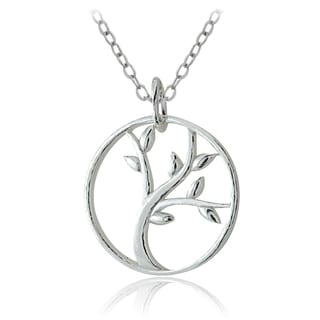 Mondevio Sterling Silver Tree of Life Cutout Necklace