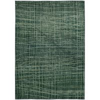 Pantone Universe Expressions Abstract Blue/ Green Rug (4' x 5'9) - 4' x 5'9""