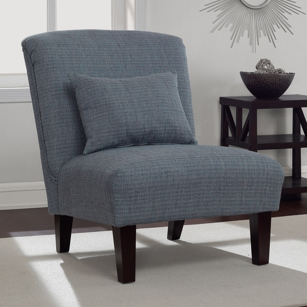 Pleasant Shop Anna Weathered Blue Accent Chair Free Shipping Today Machost Co Dining Chair Design Ideas Machostcouk