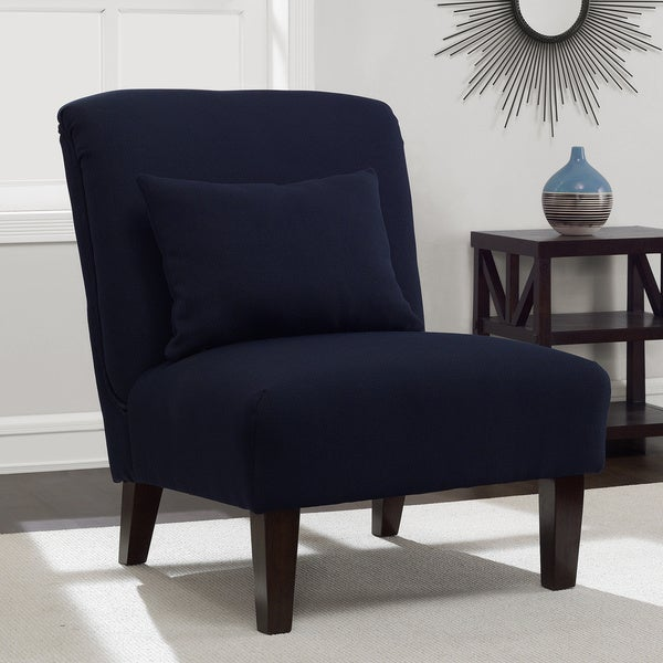 Shop Anna Navy Accent Chair Free Shipping Today