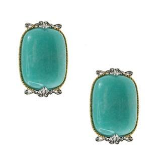 Michael Valitutti Palladium Silver Amazonite Earrings