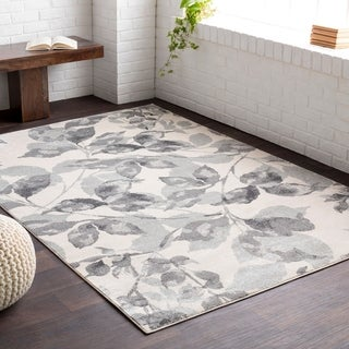 Meticulously Woven Alme Grey/ White Area Rug (5'2 x 7'6)