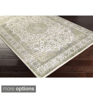Meticulously Woven Aban Faded Border Area Rug (5'2 x 7'6)