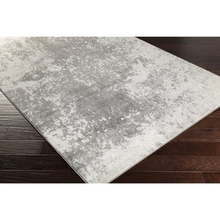 """Anah Subtle Grey & White Abstract Area Rug - 5'2"""" x 7'6"""""""