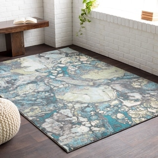 Meticulously Woven Ancho Blue/Grey Area Rug (5'2 x 7'6)