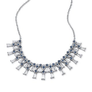 PalmBeach 8.21ct TCW Crystal and Cubic Zirconia Necklace Glam CZ