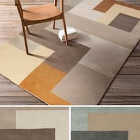 Hand-Tufted Danelli Contemporary Wool Area Rug - 5' x 8'