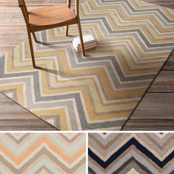 Hand Tufted Christopher Contemporary Wool Area Rug