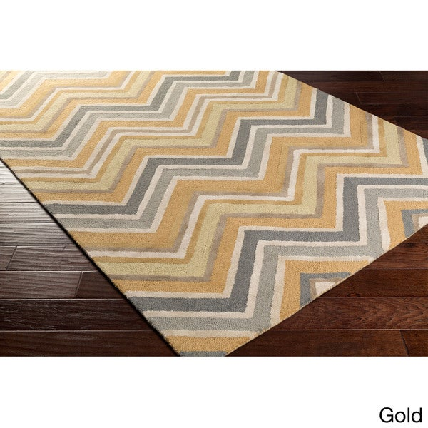 Hand-Tufted Christopher Contemporary Wool Area Rug