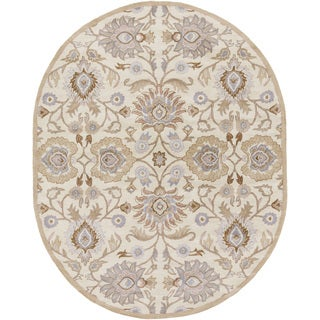 Hand-tufted Noah Traditional Wool Rug (6' x 9' Oval)