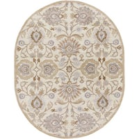 Hand-tufted Noah Traditional Wool Area Rug (6' x 9' Oval)