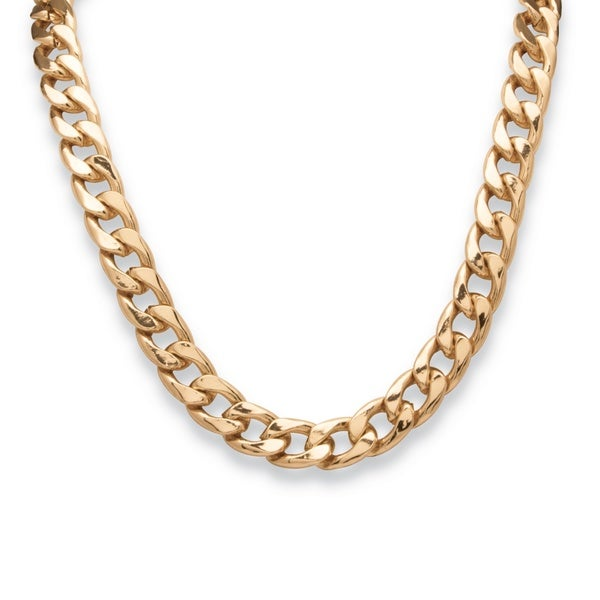 Men's Curb-Link Necklace in Yellow Gold Tone