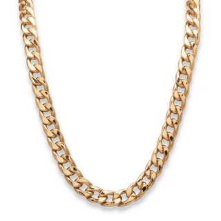 PalmBeach Men's 15 mm Curb-Link Necklace in Gold Tone 30""