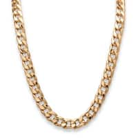 """Men's Gold Tone Curb-Link Chain Necklace (15mm), 30"""""""