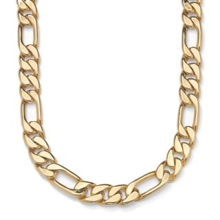 PalmBeach Men's Figaro-Link Chain in Yellow Gold Tone 30""