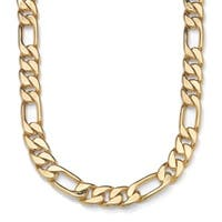 """Men's Figaro-Link Chain in Yellow Gold Tone 30"""""""
