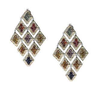 Michael Valitutti Multi-colored Sapphire Dangle Earrings