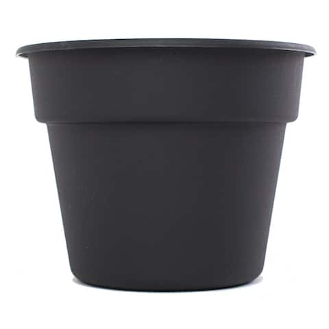 Bloem Black Dura Cotta Planter